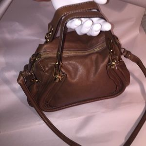 pre-owned auth CHLOÈ nutmeg brown leather  PARITY
